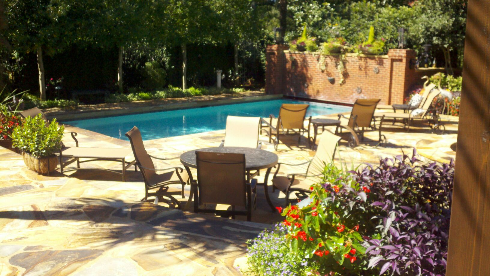 Custom landscaping design greenville sc for Pool design greenville sc