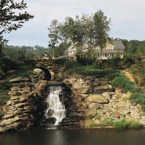 Glassy Waterfall Bridge