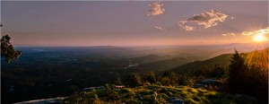 Sunset at Glassy Mountain, Landrum SC
