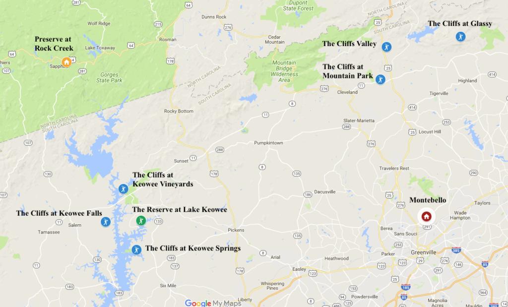 Luxury Communities of the Carolinas Map